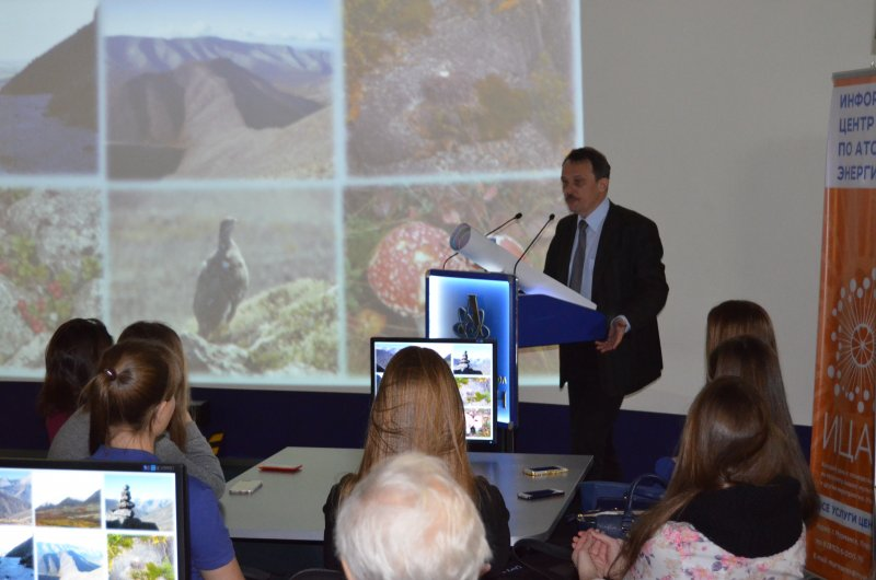 Фото к В рамках проекта «ЖЗЛ» Информационный центр по атомной энергии Мурманска  провел встречу с директором Геологического института Кольского научного центра  РАН.