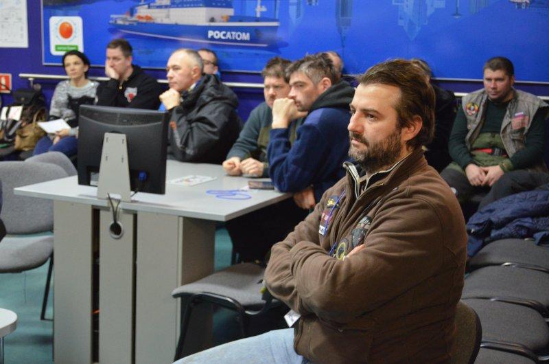 Фото к «Только на Север!»: В ИЦАЭ состоялась пресс-конференция участников международной арктической мотоэкспедиции